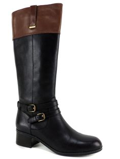 Bandolino Women's Carlotta Tall Riding Boots DK Brown/Cognac Leather 6.5 (B, M) #Bandolino #RidingEquestrian #RidingCasualDress
