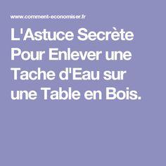 L'Astuce Secrète Pour Enlever une Tache d'Eau sur une Table en Bois.