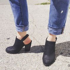 Denim by The Gap, slingback mules from Marshalls