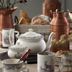 The centrepiece is the focal point of your table design. #DelamereRural #Spode