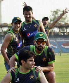 MISBAH AND TEAM MATES