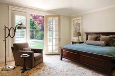 Contemporary master bedroom.