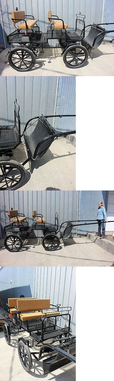 Carts and Carriages 167220: New Horse Size 4 Wheel Horse Drawn Carriage Shafts Made In Usa With Flashers -> BUY IT NOW ONLY: $2500 on eBay!