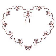 Diseño Corazón de bordado a mano