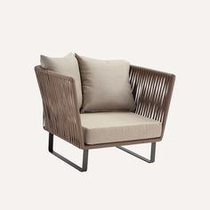 Bitta club chair, Rodolfo Dordoni, Kettal. Bitta club chair's versatile aesthetic allows it to be used in a number of contexts. Bitta club chair is equally