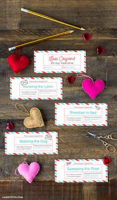 Get crafty this Valentine's Day with heaps of fun crafts for your loved ones, class mates and friends including these fab love coupons to print at home! Paper Anniversary, Anniversary Gifts For Him, Diy Crafts For Kids, Fun Crafts, Valentines For Kids, Valentine Ideas, Love Coupons, Coupon Template, Diy Gifts