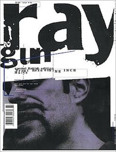 raygun Magazine was a great example of postmodern editorial design that flirted with deconstructivism.