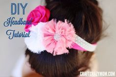 diy headband tutorial #foe fold over elastic Hairbow Supplies, Etc.