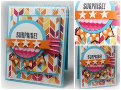 Surprise ! - StampinUp! Demonstrator Stamping Videos Stamp Workshop Classes Scissor Charms Paper Crafts