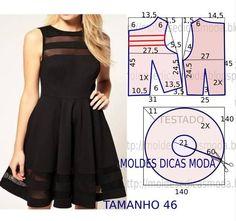 Mod@ en Line@ Diy Fashion, Ideias Fashion, Fashion Design, Fashion Trends, School Fashion, Diy Clothing, Sewing Clothes, Dress Sewing Patterns, Clothing Patterns