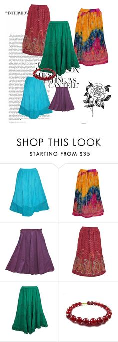 Boho Gypsy Fashion Skirts by tarini-tarini on Polyvore featuring Forever 21