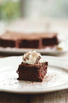 Slice Of Chocolate Beetroot Pudding Cake