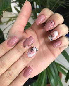 20 inspirações de Unhas Decoradas combinação Rosa e Cinza - Tendência de Unhas decoradas, com o delicado do rosa e o moderno do cinza! #unhasdecoradas #tendência #beleza #nails #pinterestbr #rosa #cinza Pretty Nail Art, Beautiful Nail Art, Gorgeous Nails, Elegant Nails, Stylish Nails, Trendy Nails, Nagellack Design, Nagellack Trends, Cute Acrylic Nails