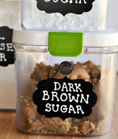 How to Make Your Pantry Pretty with Chalkboard Labels