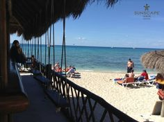 There's plenty of places to relax with a view at Sunscape Sabor Cozumel.
