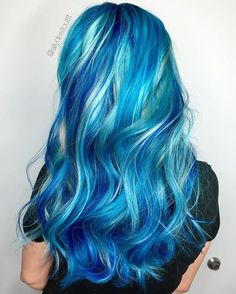 6 Mythical Mermaid Blue Hair Color to Grab Attention mermaid ombre hair - Ombre Hair Blonde And Blue Hair, Blue Hair Streaks, Blue Ombre Hair, Ombre Hair Color, Blue Hair Colors, Mermaid Hair Colors, Blue Mermaid Hair, Pastel Hair, Unicorn Hair Color