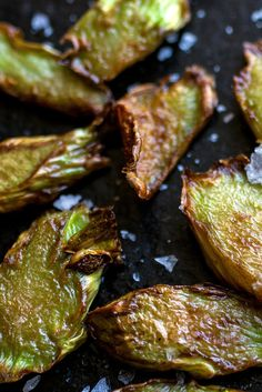 This was an experiment and now it is a keeper Peel broccoli stems, slice them thin, and pan-fry in hot oil just until the slices are charred on the edges, then flip over and brown for just a little bit of time on the other side If you do this just right, the medallions will have edges that are slightly crispy with that wonderful fried flavor, and tender interiors