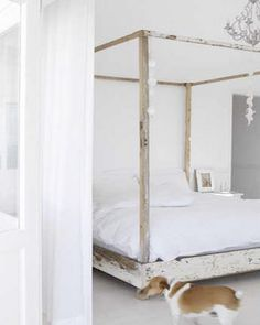 Queen BED Shabby Chic  FREE SHIPPING by KenryAndCompany on Etsy, $695.00