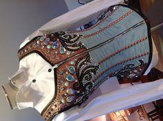 Turquoise & Copper Corset Vest