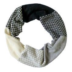 Monochrome triangle wrap snood by Miss Knit Nat