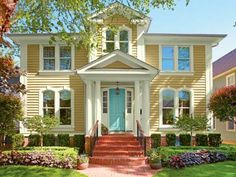 Victorian House Painting Ideas | ... yellow Italiante home. | Courtesy of: Valspar Paint | thisoldhouse.com