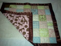 beautiful work!    Fleece backed receiving quilt for a girl by jasminealexander1, $40.00