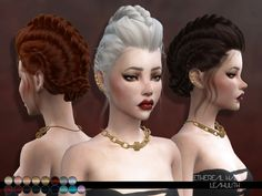 Sims 4 CC's - The Best: LeahLillith Ethereal Hair