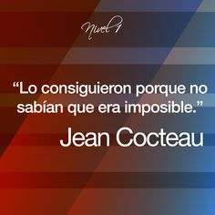 Jean Cocteau #frases#citas#quotes