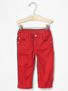 1969 pull-on red straight jeans | Gap