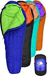 Hyke Byke Goose Down Sleeping Bag For Backpacking A Eolus 0 Degree F 800 Fill Power Ultralight 4 Seaso Down Sleeping Bag Sleeping Bags Camping Sleeping Bag