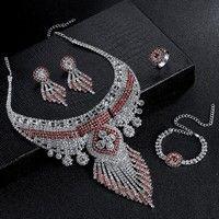 Description: Item Type:Necklace& Earrings&Bracelet &Ring Jewelry Sets Plating:Silver Pl