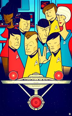 In his inimitable retro style, artist Ale Giorgini takes on the Star Trek crew! Ale Giorgini, Star Trek Party, Star Trek Crew, Star Trek Universe, Canvas Prints, Art Prints, Wood Print, Fine Art Paper, Illustration Art
