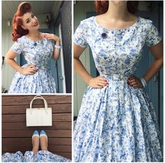 My Week In Outfits! - Miss Victory Violet Cute Dresses, Vintage Dresses, Vintage Outfits, Pin Up Outfits, Girl Outfits, 1940s Fashion, Vintage Fashion, Modest Fashion, Fashion Dresses