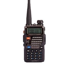 Starcn Handheld Scanner Dual Band Two-Way Radio (136-174MHz VHF & 400-480MHz UHF) Includes Full Kit with Large Battery- Black