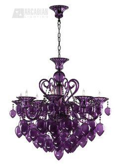 Cyan Design Purple Murano Style Glass Contemporary 8-Light Chandelier