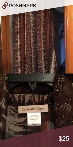 Beautiful shell from Cold water creek never worn Really pretty shell browns blacks and tans can have both shells for 22.00 Tops Camisoles
