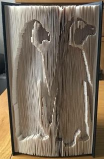 Book Folding Pattern - Penguins Based on a book height of 21cm and 399 pages This is a cut pattern Photo by pattern tester