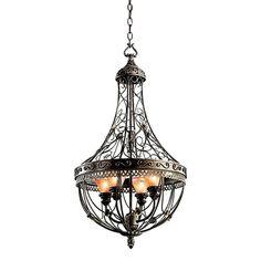 Kichler Lighting 42230TRZ Marchesa 4 Light Foyer Light In Terrene Bronze #KichlerLighting
