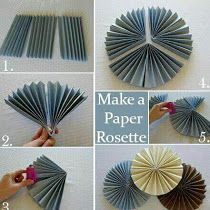 Make Cute Accordion Fold Flowers and use them to decorate ...