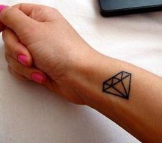 My diamond tattoo will exist at the start of June!! X