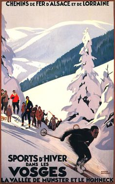 Winter Sports by Roger Broders - art print from Easyart.com