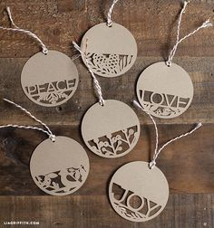 DIY gift tags for your holiday gifts. Spread Peace, Love and Joy with these gorgeous gift tags.