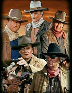 John Wayne. Acteur Américain de fabuleux Westerns....