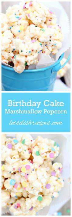 Birthday Cake Marshmallow Popcorn Recipe