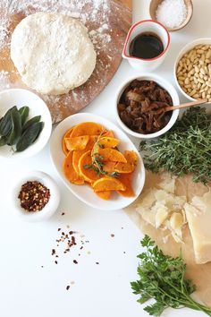 Recipe: Butternut Squash, Sage, and Caramelized Onion Flatbread with Balsamic Glaze (Gluten-free) Julie's Kitchen, Tapas Party, Balsamic Glaze, Caramelized Onions, Butternut Squash, Palak Paneer, Curry, Gluten Free, Ethnic Recipes