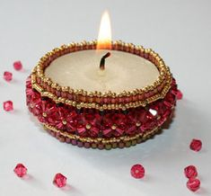 Beaded candle holder tutorial, actualy I think this can be a really nice bungle too