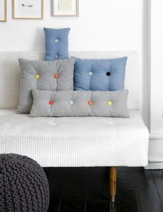 Tuffed pillows
