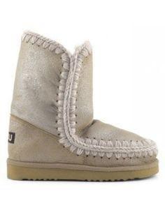 Mou Eskimo Short Boots Women Metallic Cracked Pink #mou #eskimo #boots #women #fashion