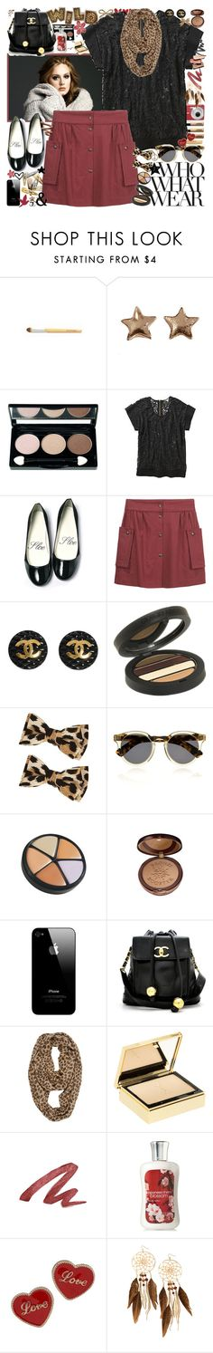 """""""Nevermind I'll find someone like youuu <3"""" by k-rista ❤ liked on Polyvore featuring ULTA, Clips, George, Les Prairies de Paris, Chanel, Giorgio Armani, Who What Wear, Illesteva, Lise Watier and Physicians Formula"""