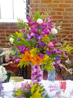 Colorful Dendrobium Centerpiece